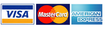 Accepted Payment Methods:  Visa, Mastercard, American Express
